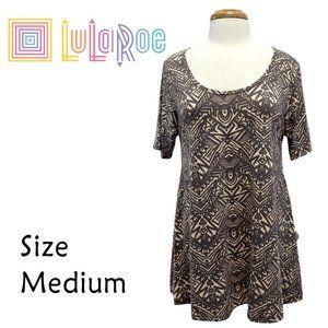 LuLaRoe Perfect T Size Medium Gray Graphic NWT